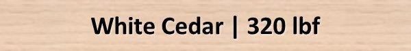 White Cedar Janka Hardness Rating