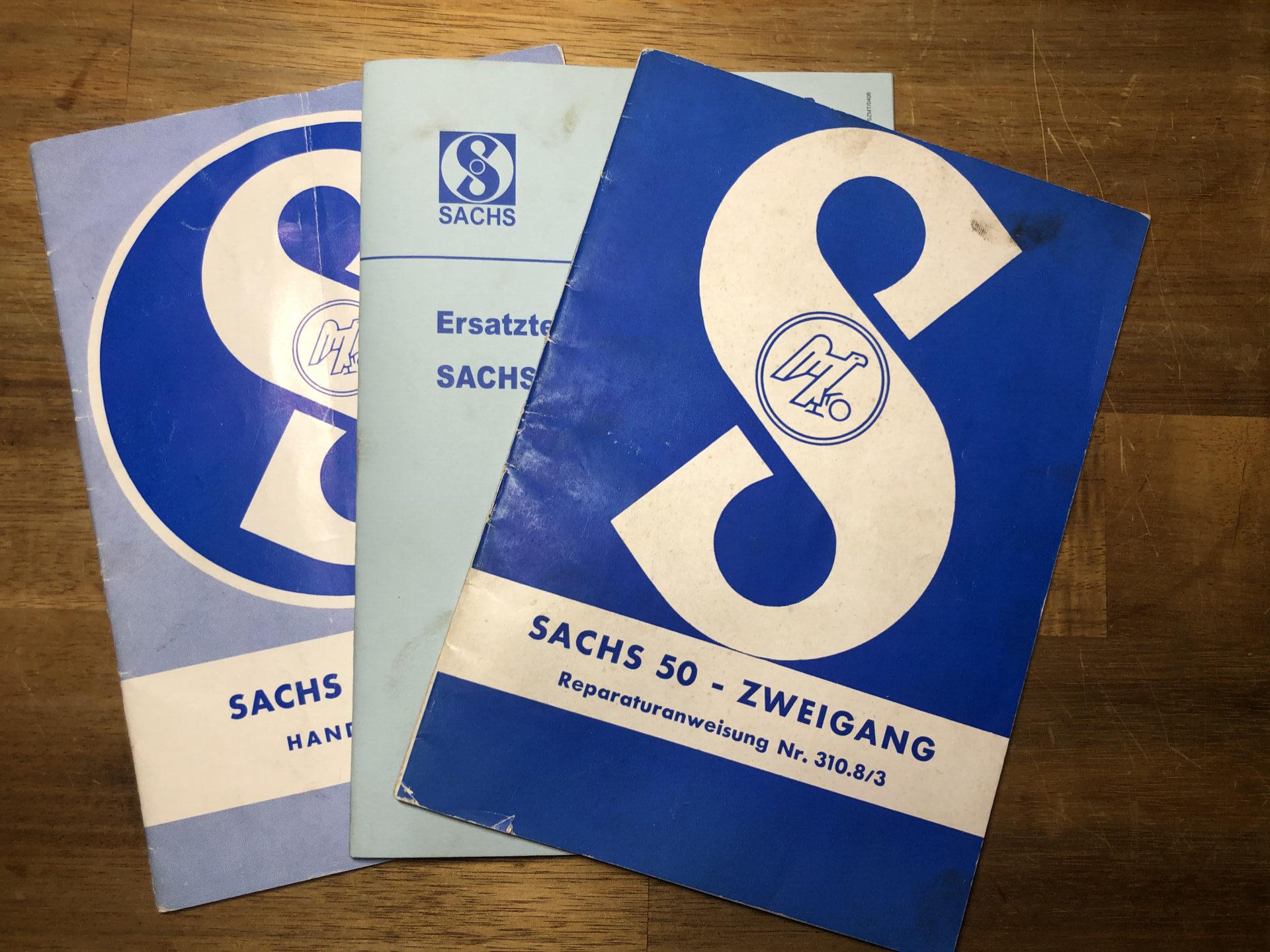 Sachs 50: Reparaturanweisung, Handbuch und Explosionszeichnung