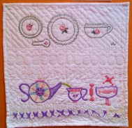 Student Embroidered Quilt Block -Handwork Homeschool