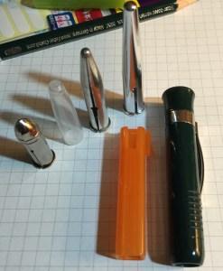 assorted pencil caps