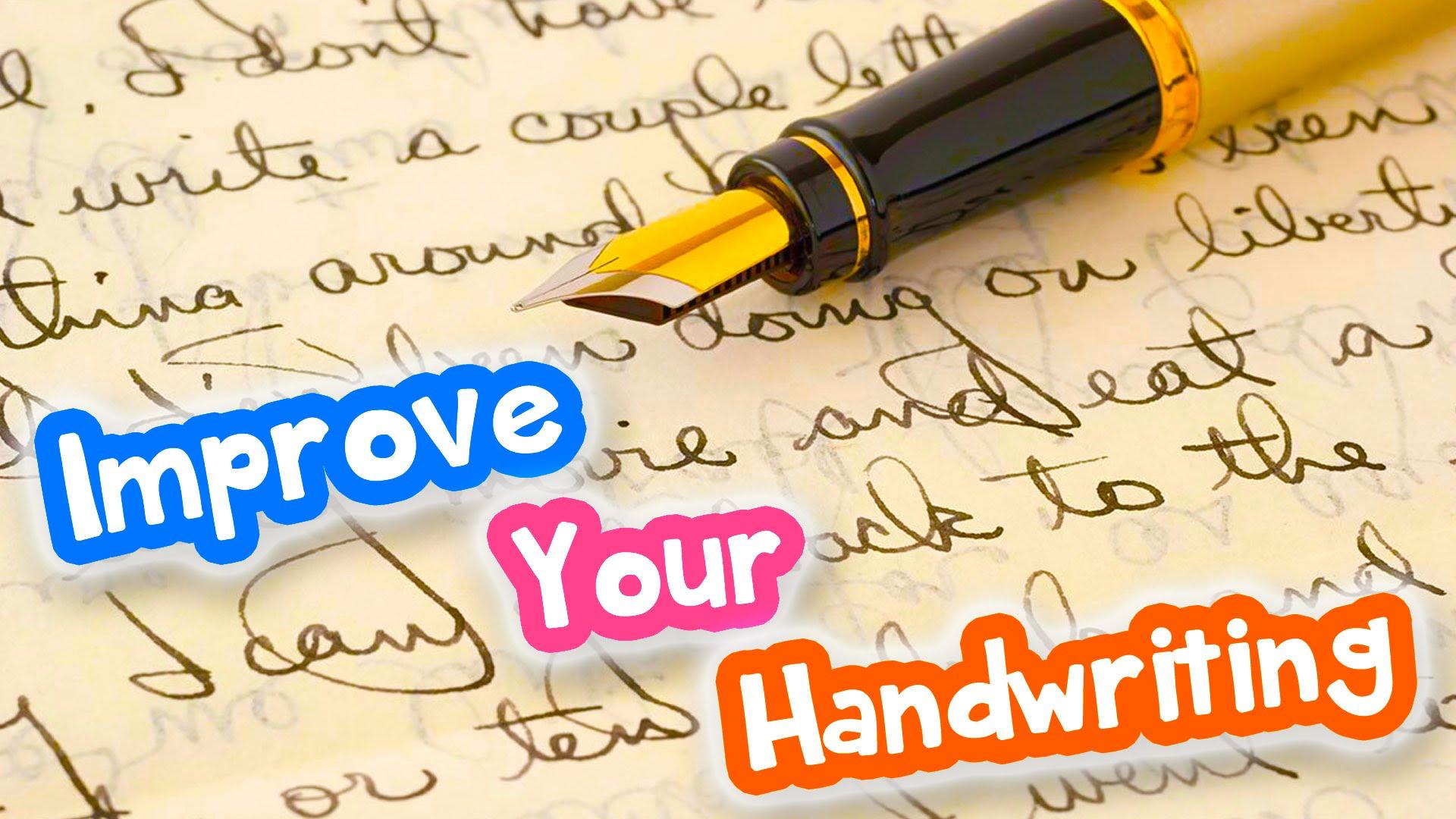 Good Handwriting Develops With Practice It S Not In Born