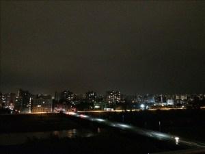 一部停電中の夜景