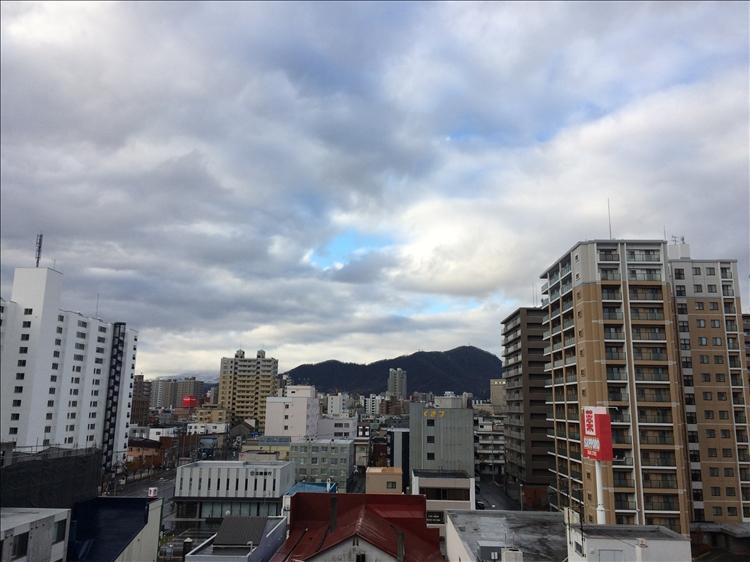 雨模様の札幌
