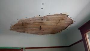 Image of plaster repair in progress