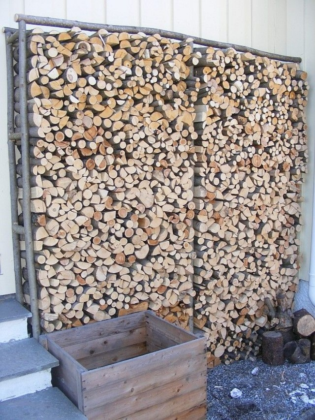 Store Firewood In Home Made Racks
