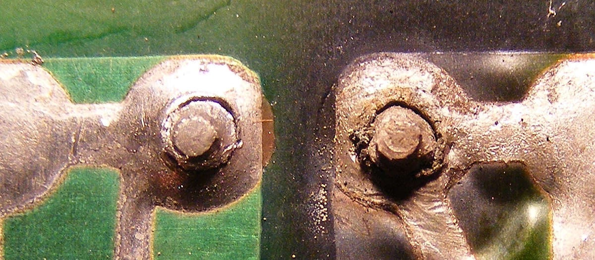 how to find a dry solder joint