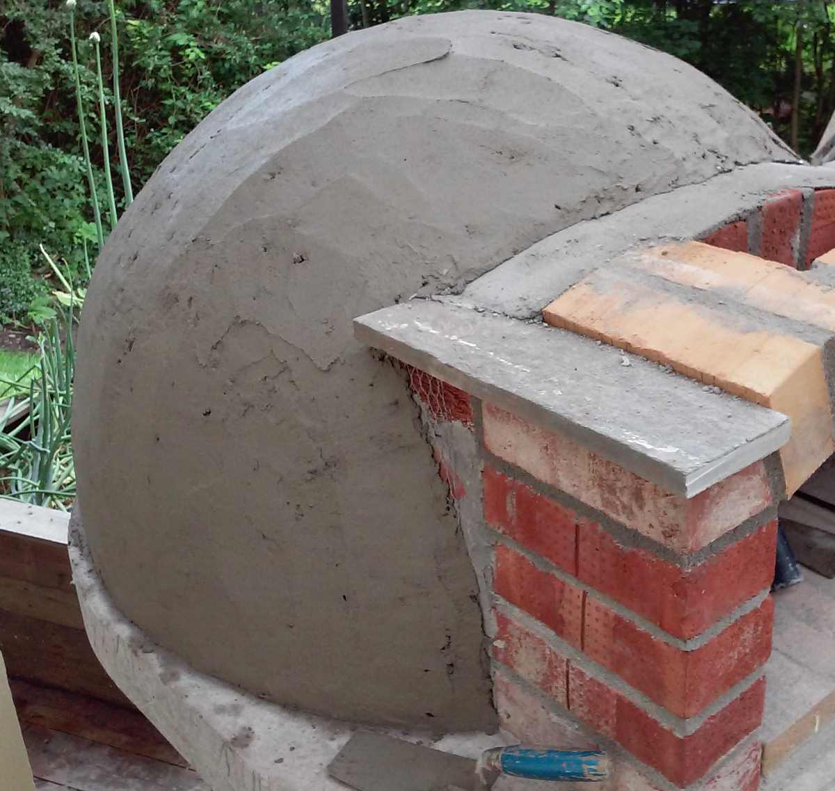 Home Wood Oven ~ Build small wood fired pizza oven cm or quot handycrowd