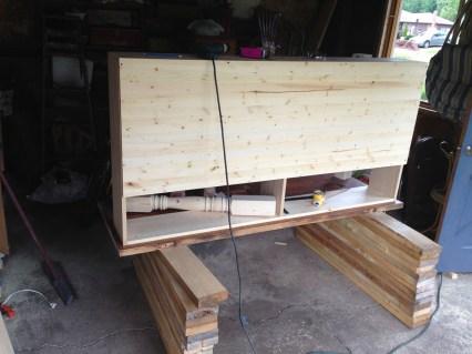 shelving unit fully assembled on new desk