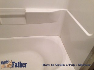 How-to caulk your bathtub - Clean tub ready for caulking