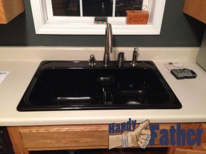 The fhinished job: How-to installed a new kitchen sink