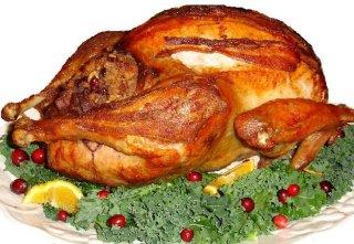 Turkey on platter
