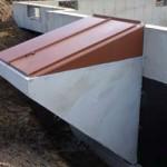 Bilco Doors being installed in new construction