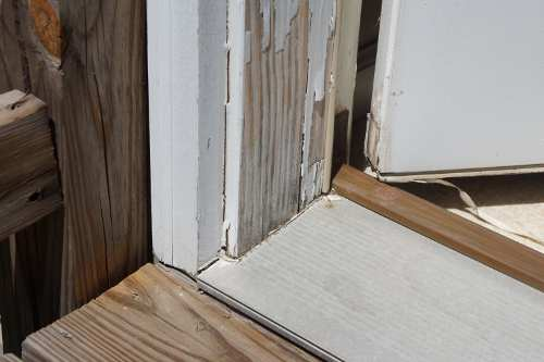 Jamb just prior to wood rot