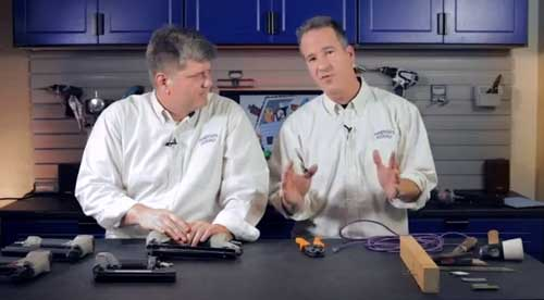 The Handyguys in their new Home Improvement Videos Studio!