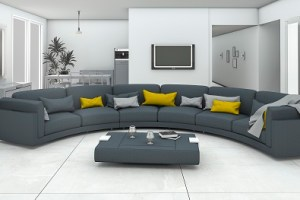 How to Choose a Curved Sofa for A Living or Family Room