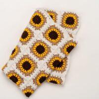 The Sunflower Blanket Crochet Pattern by BrennaAnnHandmade - Hobium Blog