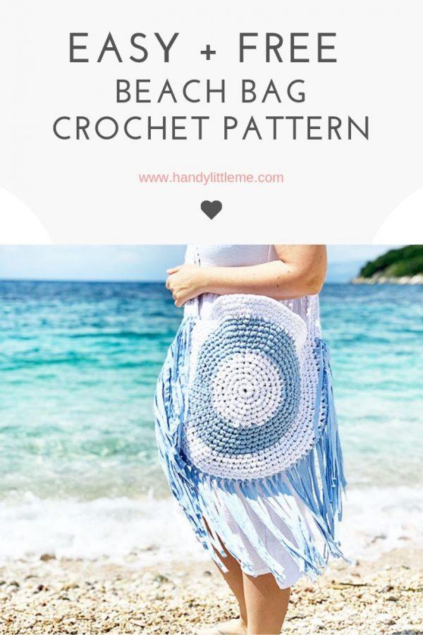 Easy and free crochet fringe bag pattern