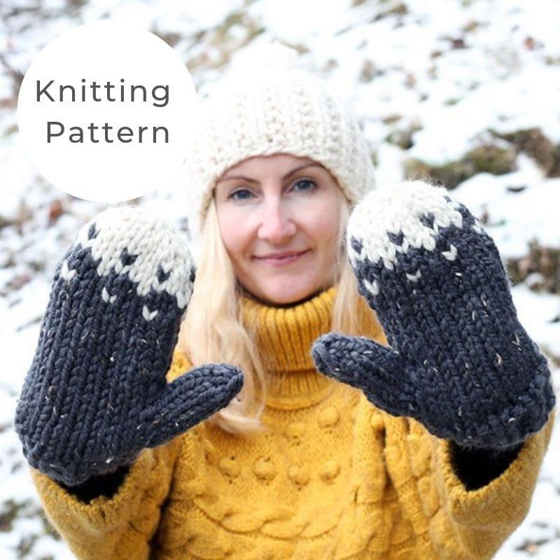 Snow mittens pattern