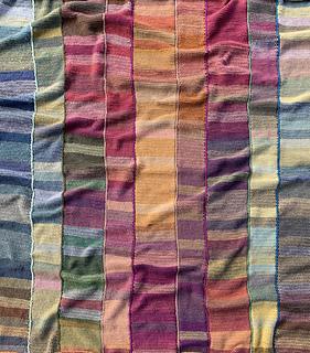 Gradient Tunisian Temperature Blanket pattern by Amy Minard