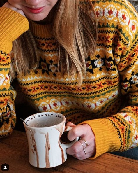 fall outfit ideas including knitted fair isle sweaters