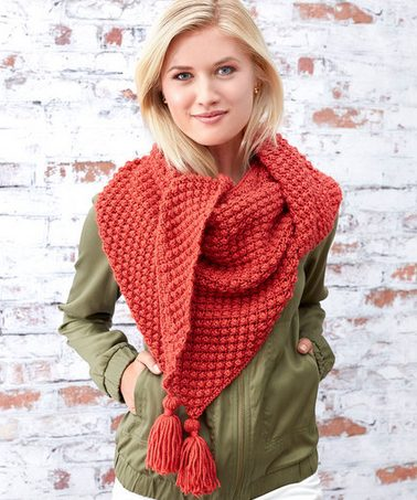 red berries shawl pattern