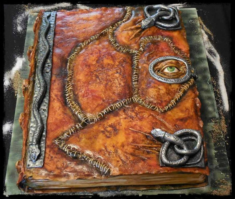 Halloween ideas hocus pocus spell book cake