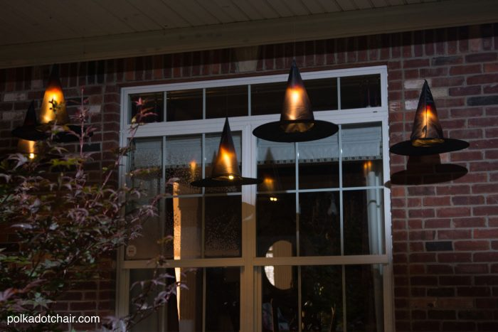 Halloween ideas witches hat porch decoration diy
