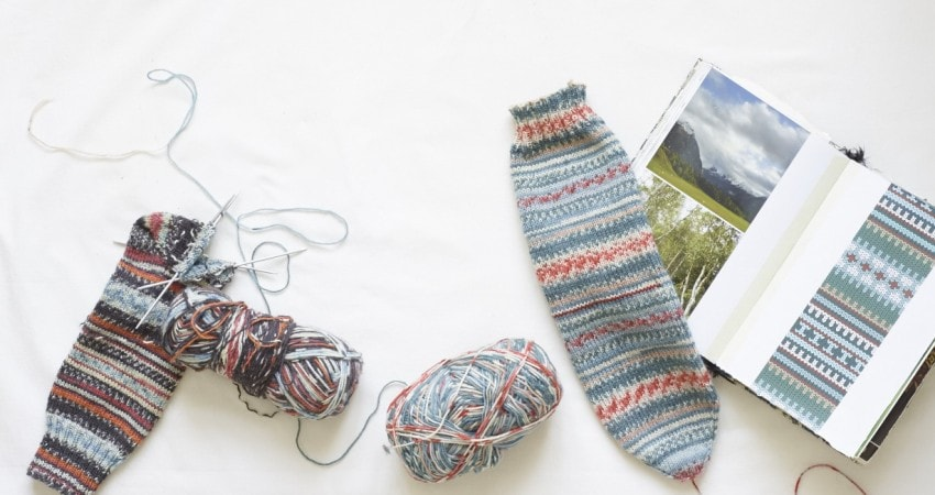 fair isle knitted sock pattern