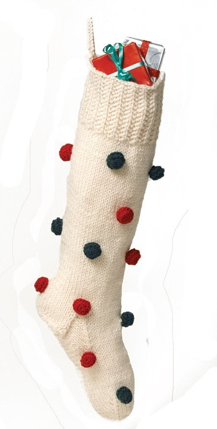 Knit-Pattern-Decorated-Christmas-Stocking
