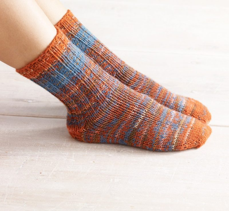 Knit-Pattern-Womens-Double-Strand-Toe-Up-Socks