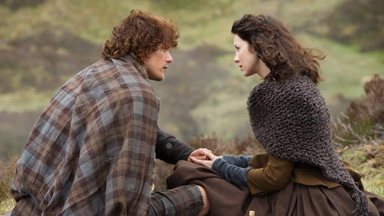 Jaimie and Clare in Outlander