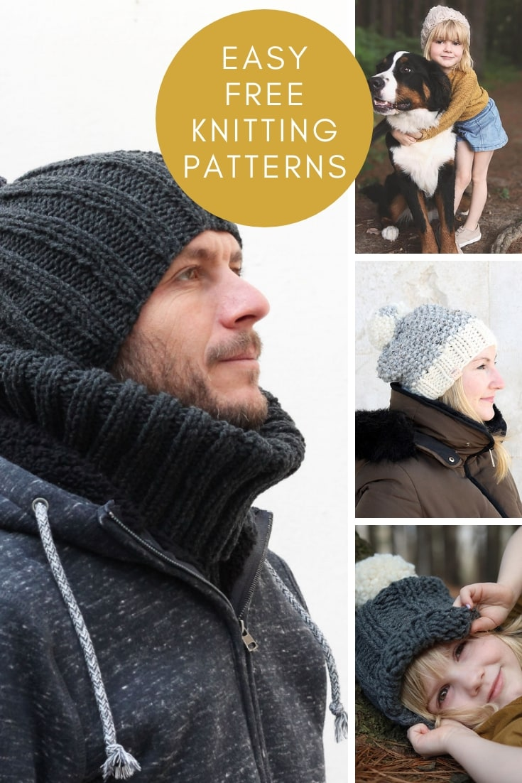 easy free knitting patterns