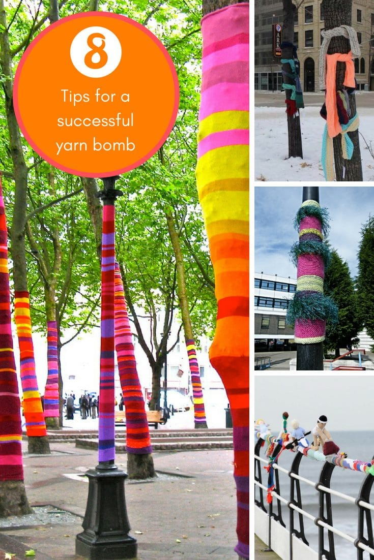Christmas Yarn Bombing.8 Tips For A Successful Yarn Bomb Handy Little Me