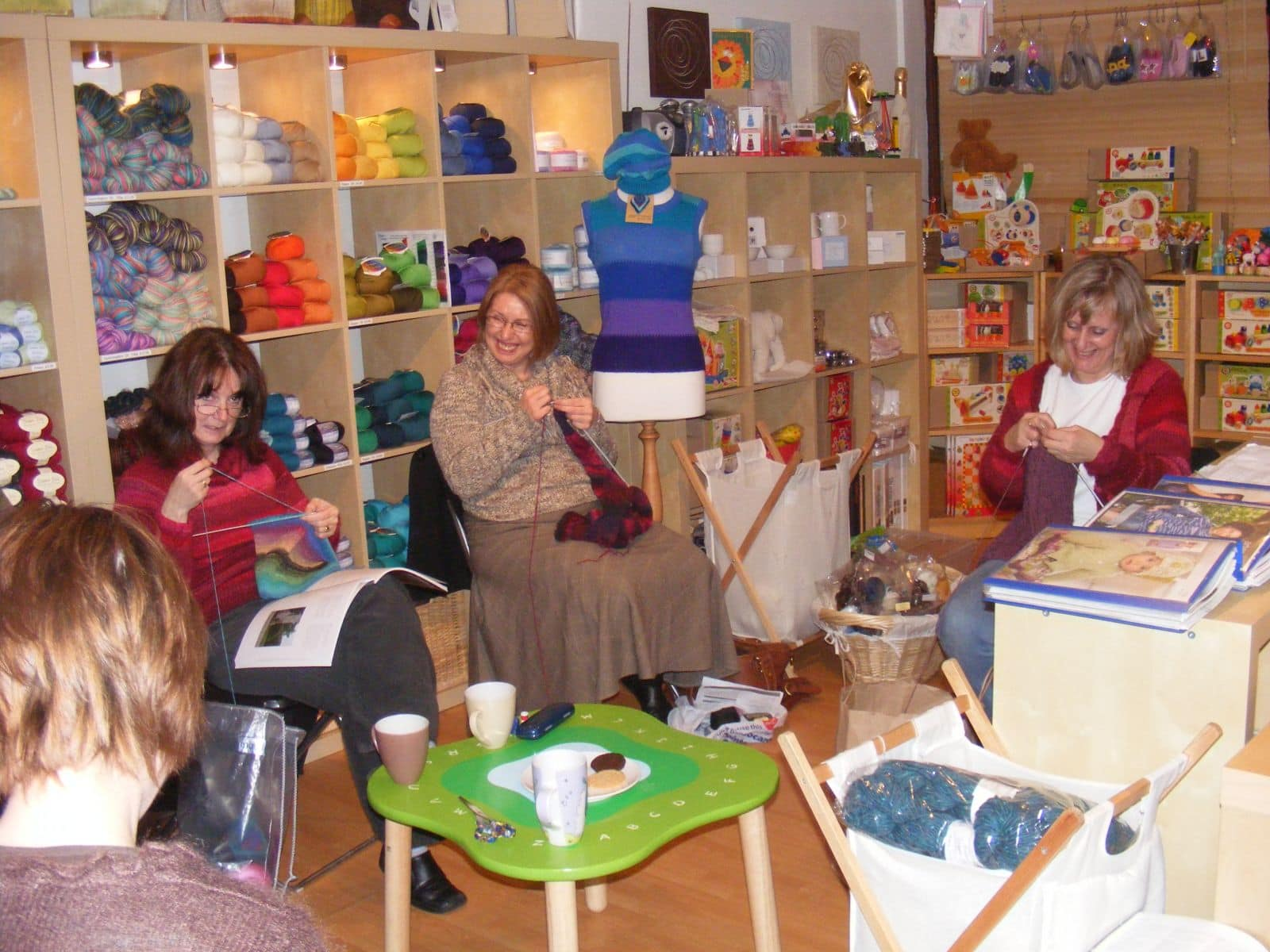 knitting skills at knitting club