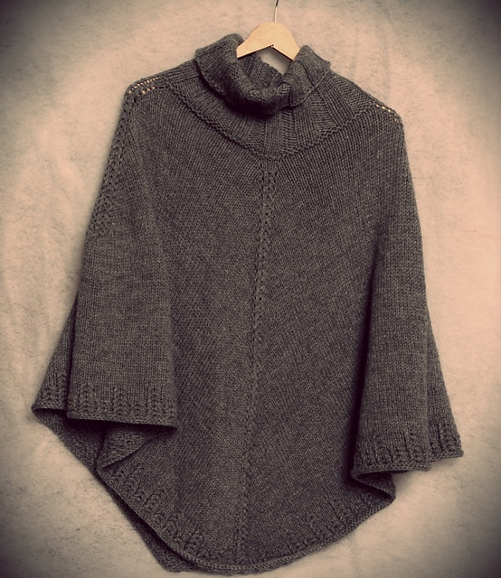 knitted autumn poncho