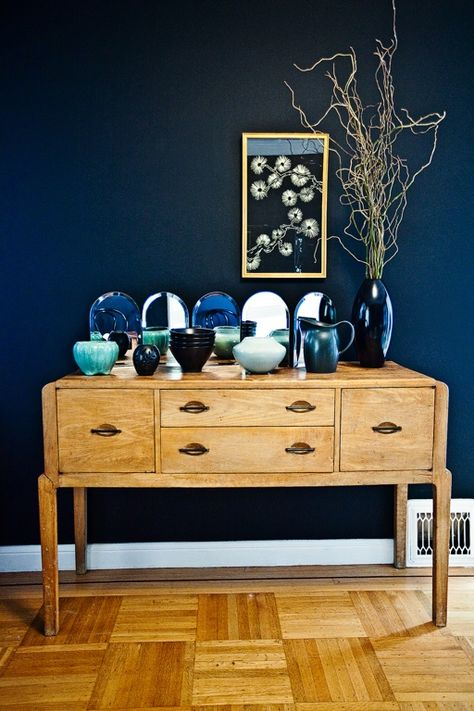 Fall home decor trends that include blue