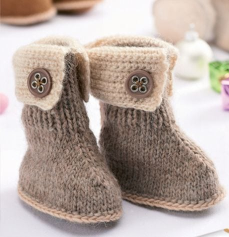 Knitted-Baby-Winter-Boots