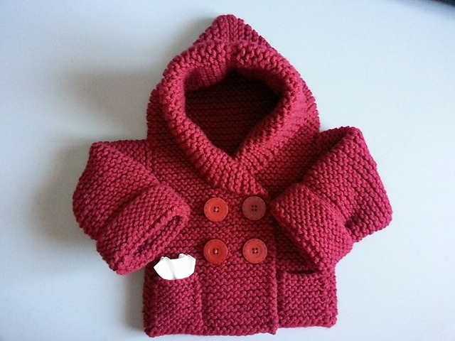 Hooded-Baby-Sweater-Knitting-Pattern