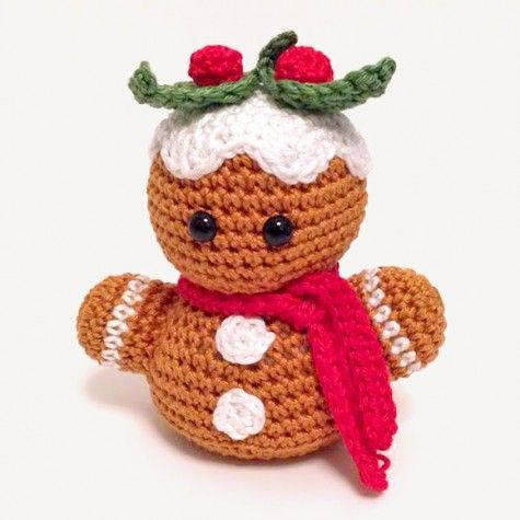 Amigurumi-Gingerbread-Man