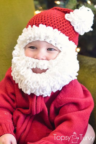 Santa-Hat-With-Beard-Crochet