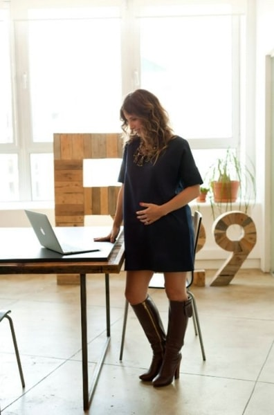 Maternity black dress