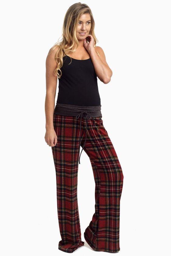 plaid pyjamas for pregnancy