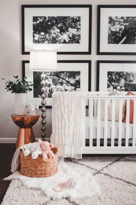 glam nursery decor