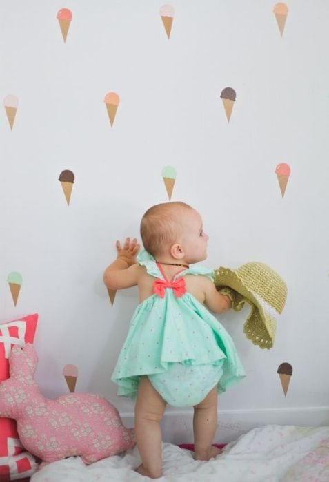 ice cream wallpaper in the nursery