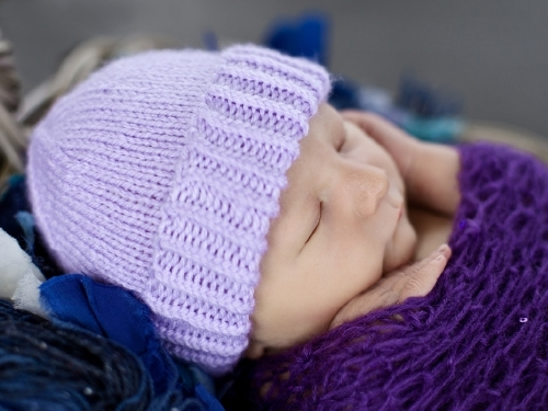 Purple Hats For Newborns