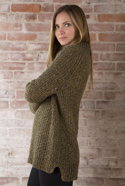 olive green knitted sweater