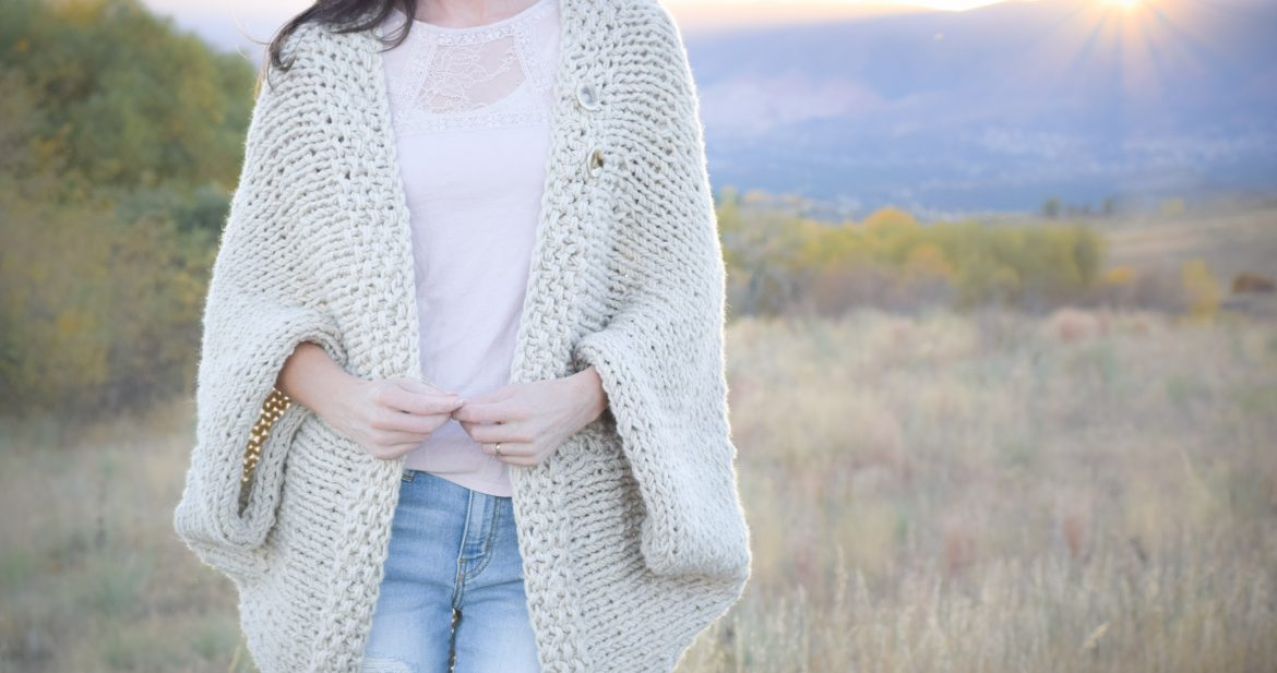 Easy-Knit-Blanket-Sweater