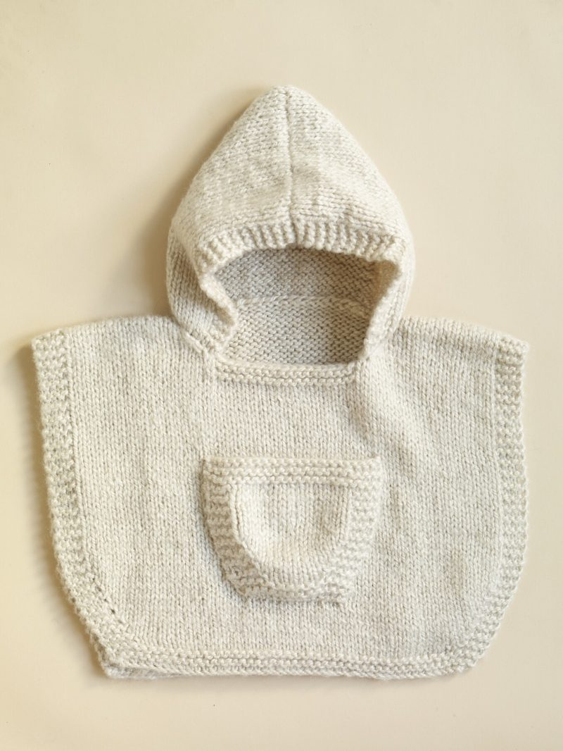 Knit-Pattern-Hooded-Baby-Poncho
