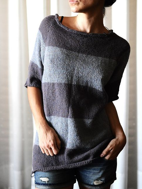 Striped sweater knitting pattern