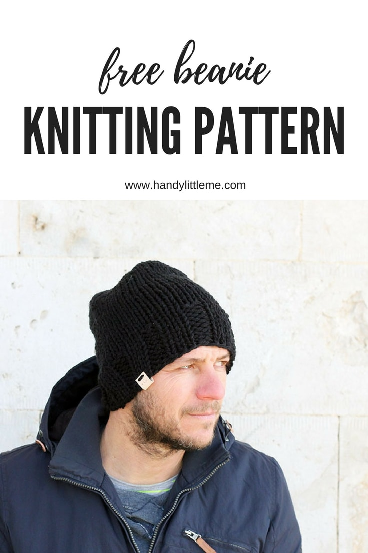 beanie hat knitting pattern